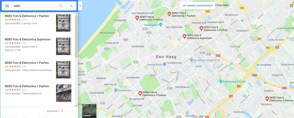 google maps neboweb