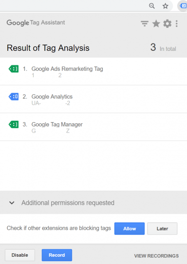 google tag analytics