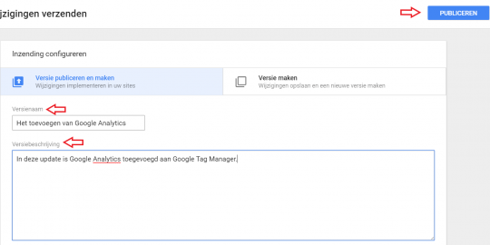 google analytics publiceren