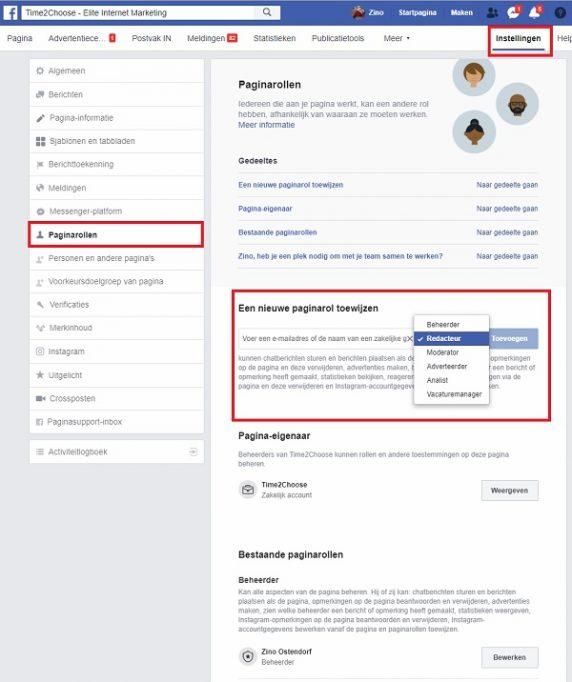 facebook bedrijfspagina beheer